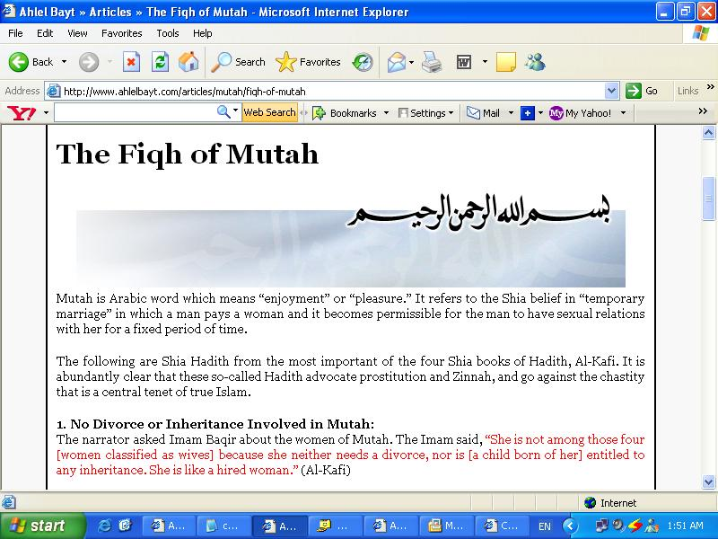 Refuting the argument that Mut'ah is immoral – Part I